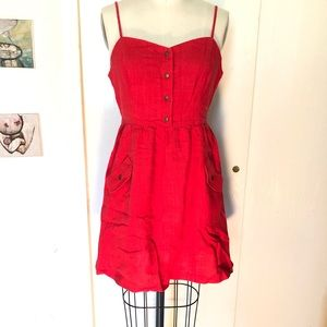 Red spaghetti strap dress Urban Outfitters NWT